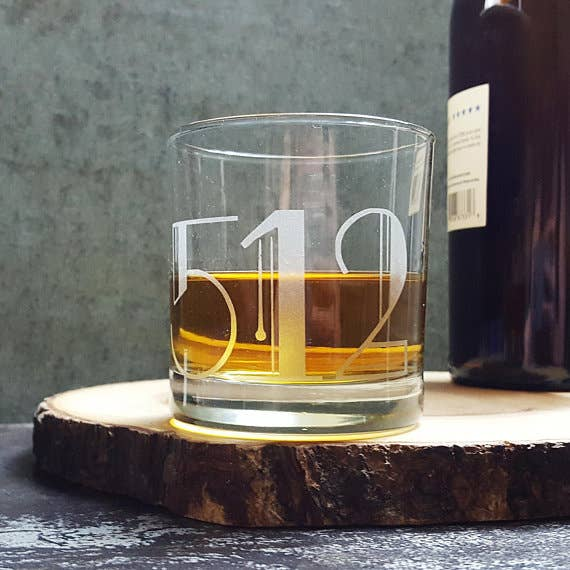 01950 Newburyport Zip Code - Etched Whiskey Glass