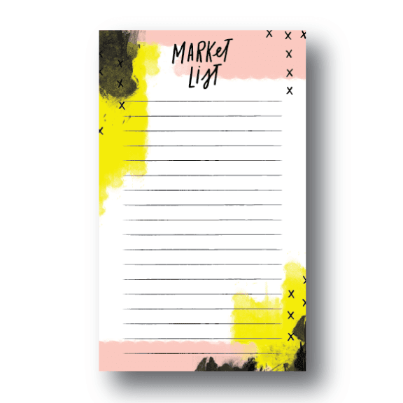 Abstract Pink Notepad - Magnet Backing