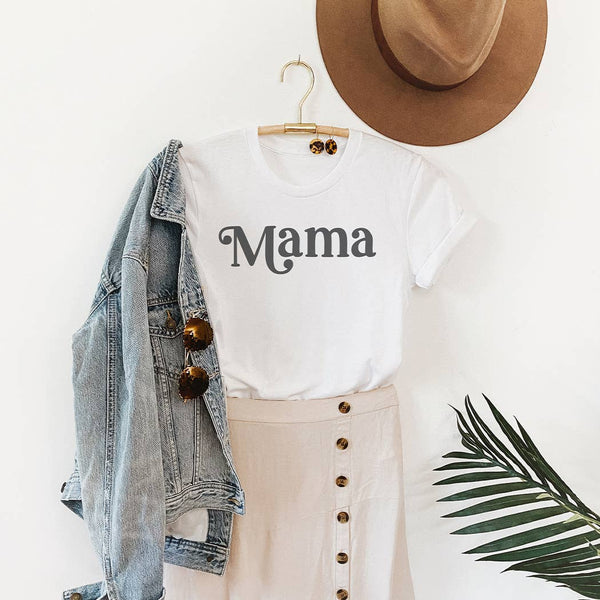 Mama Retro Graphic T-Shirt- Peach