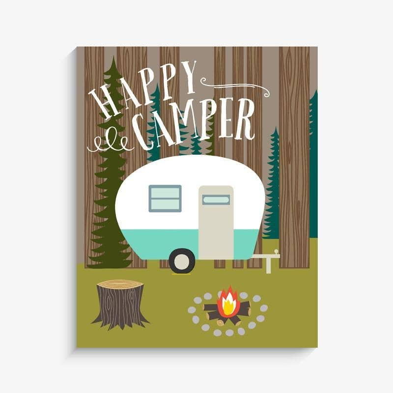 Lucy Darling - Happy Camper Print
