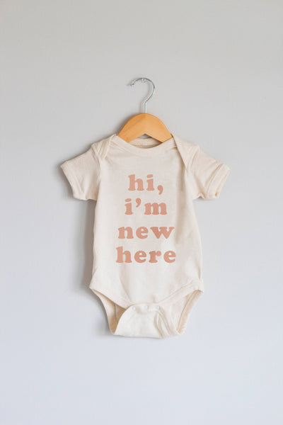 Hi, I'm New Here Infant Bodysuit, Baby Onesie