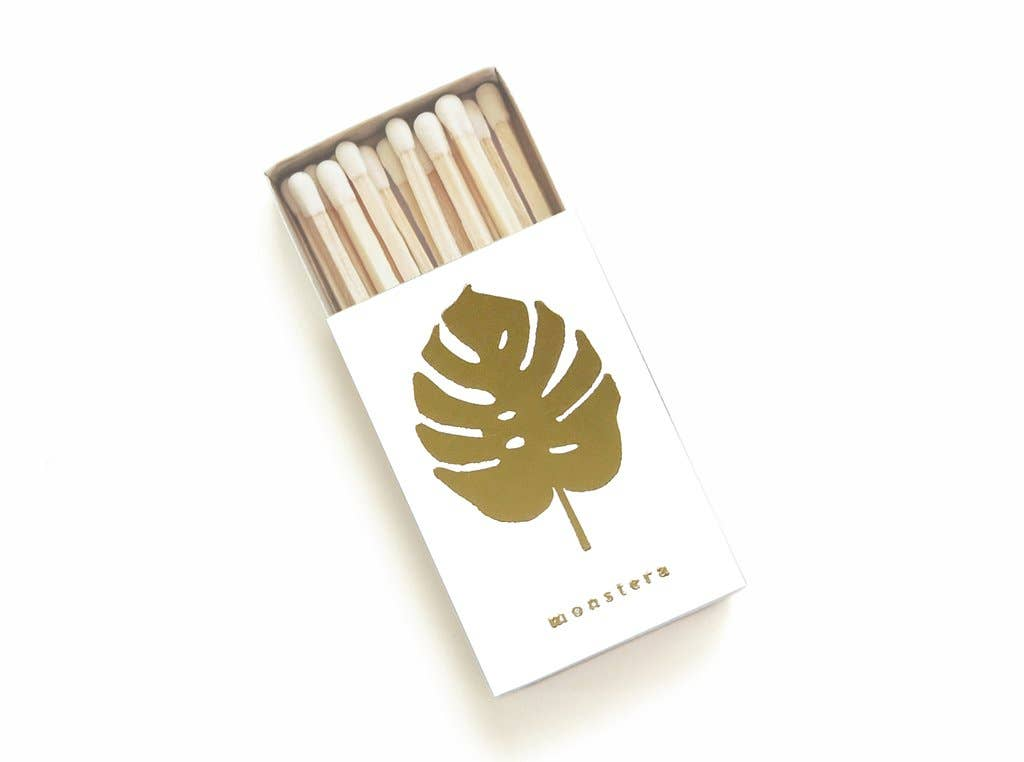 Monstera Leaf Matchbox - White Box