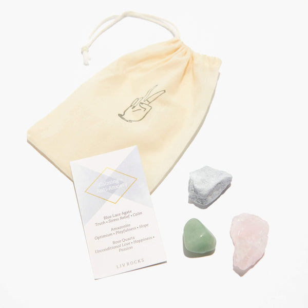 Crystal Set - Calming + Anti-Anxiety Stones Gift Set