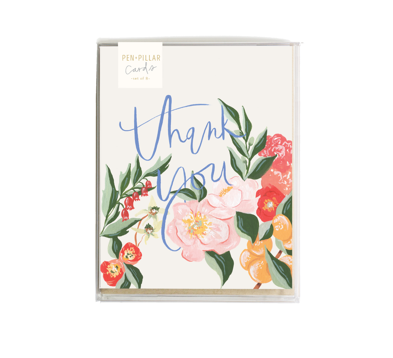 Pen + Pillar - Orange Blossom Thank You Card - Set of 8