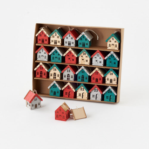 Scandinavian Advent Calendar Ornaments