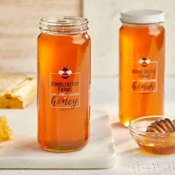Raw + Gently Filtered Honey - 22 OZ