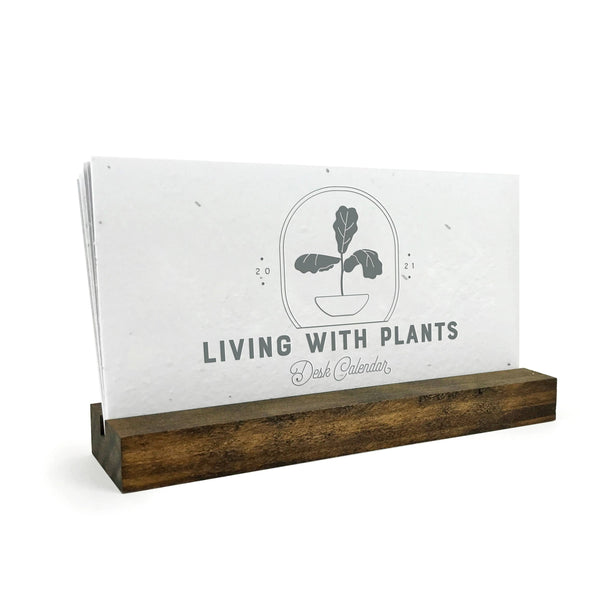 2021 House Plants Plantable Seeded Desk Calendar