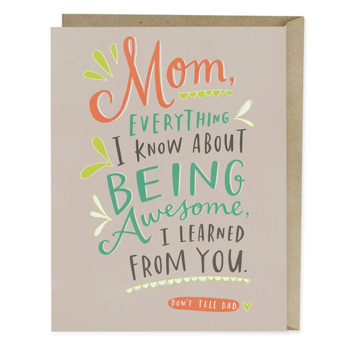 Being Awesome Mother's Day Card