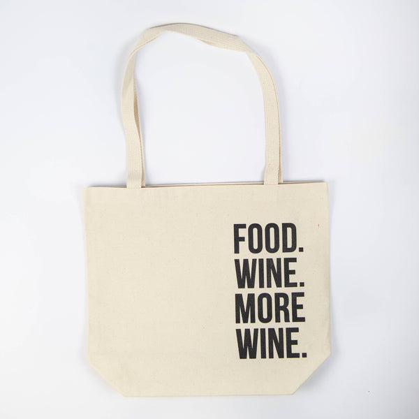 Frank Regards - Food Wine More Wine Canvas Tote Bag