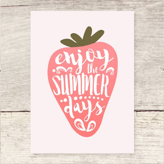 Strawberry Summer Days Card