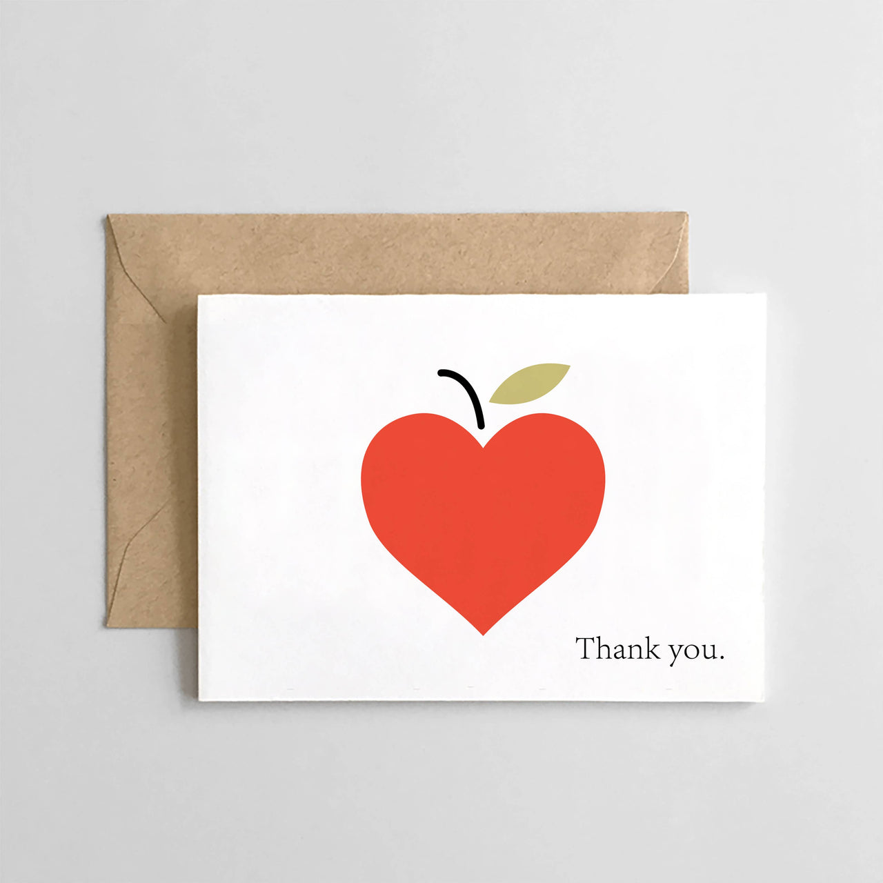 Teacher Appreciation - Thank You Apple Heart