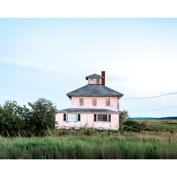 Old Pink House in Newburyport Fine Art Print
