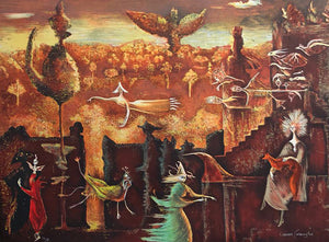 """Nine nine nine"" / Leonora Carrington / 60 x 80"