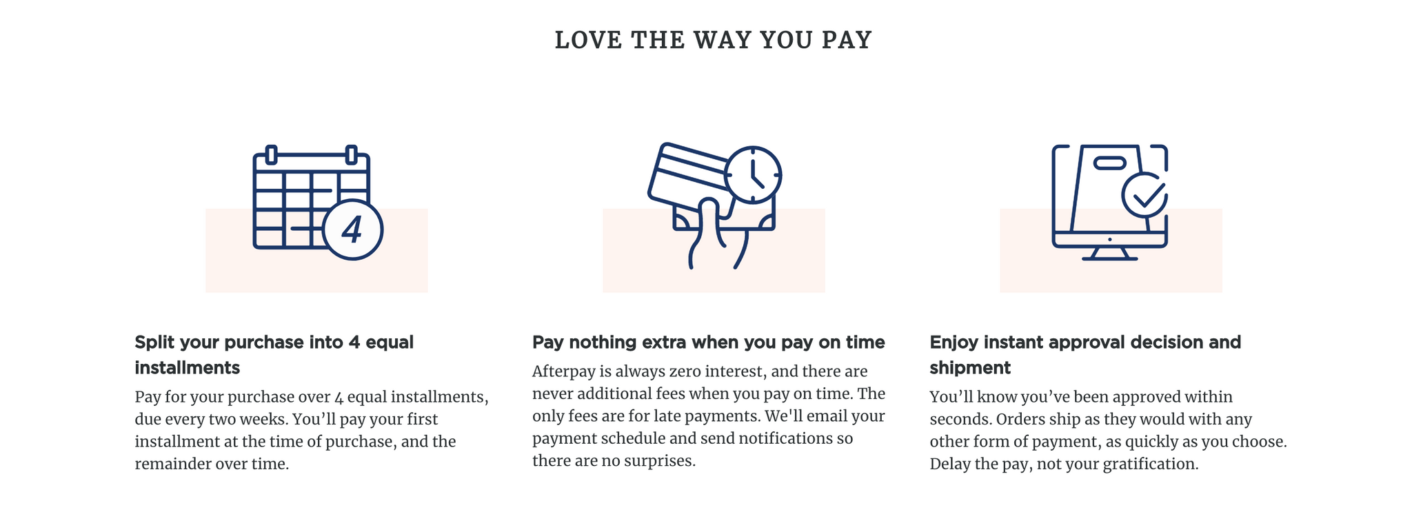 Shop with Afterpay! Shop Now, Enjoy Now, Pay Later