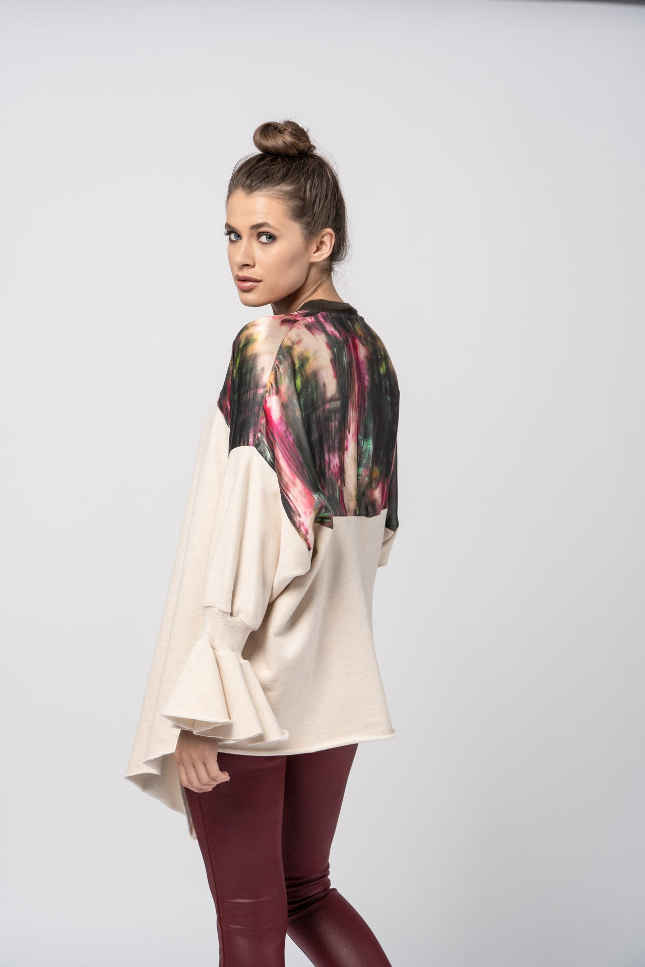 Allegory Cardigan - Rose Graphite Print Cardigan - artTECA