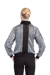 Allover Bomber Jacket- Black Mantra Print