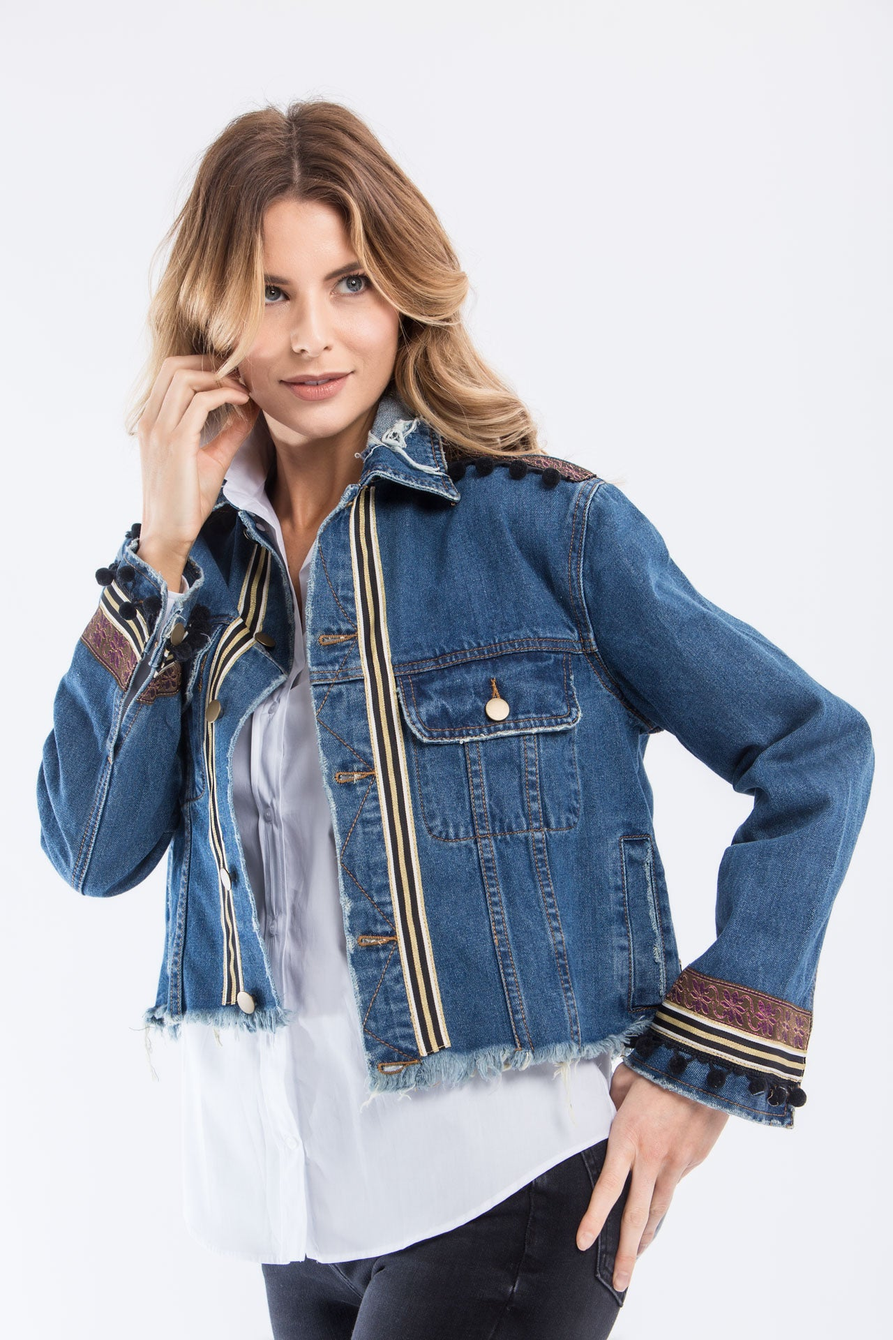 525690338e4 Conquer The World Denim Jacket Denim Jackets - artTECA
