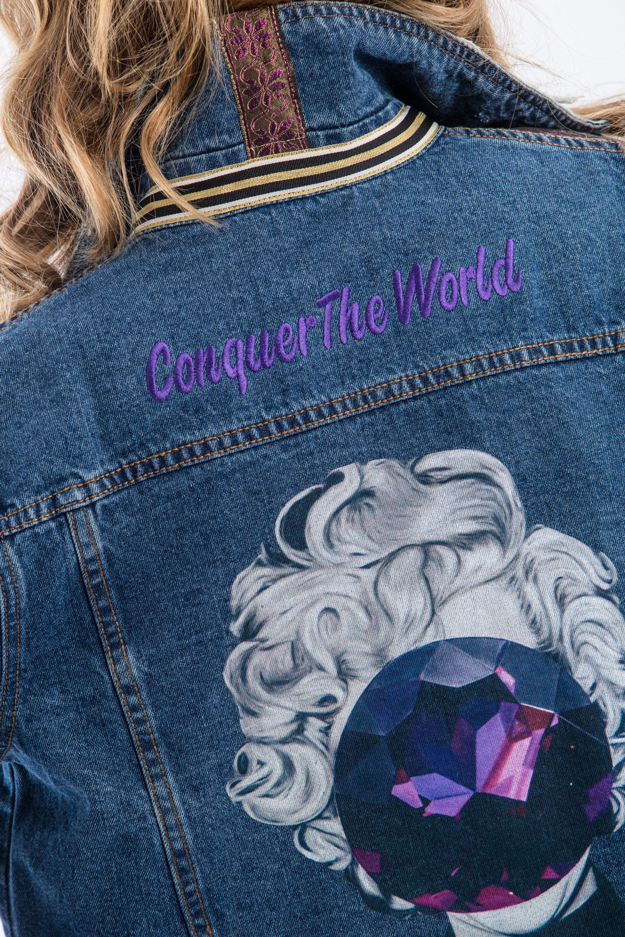 Conquer The World Denim Jacket Denim Jackets - artTECA