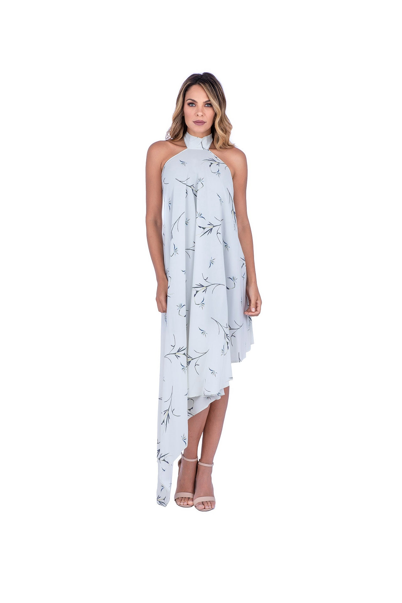 Fresco Silk Dress - Flower Book Print Dresses - artTECA