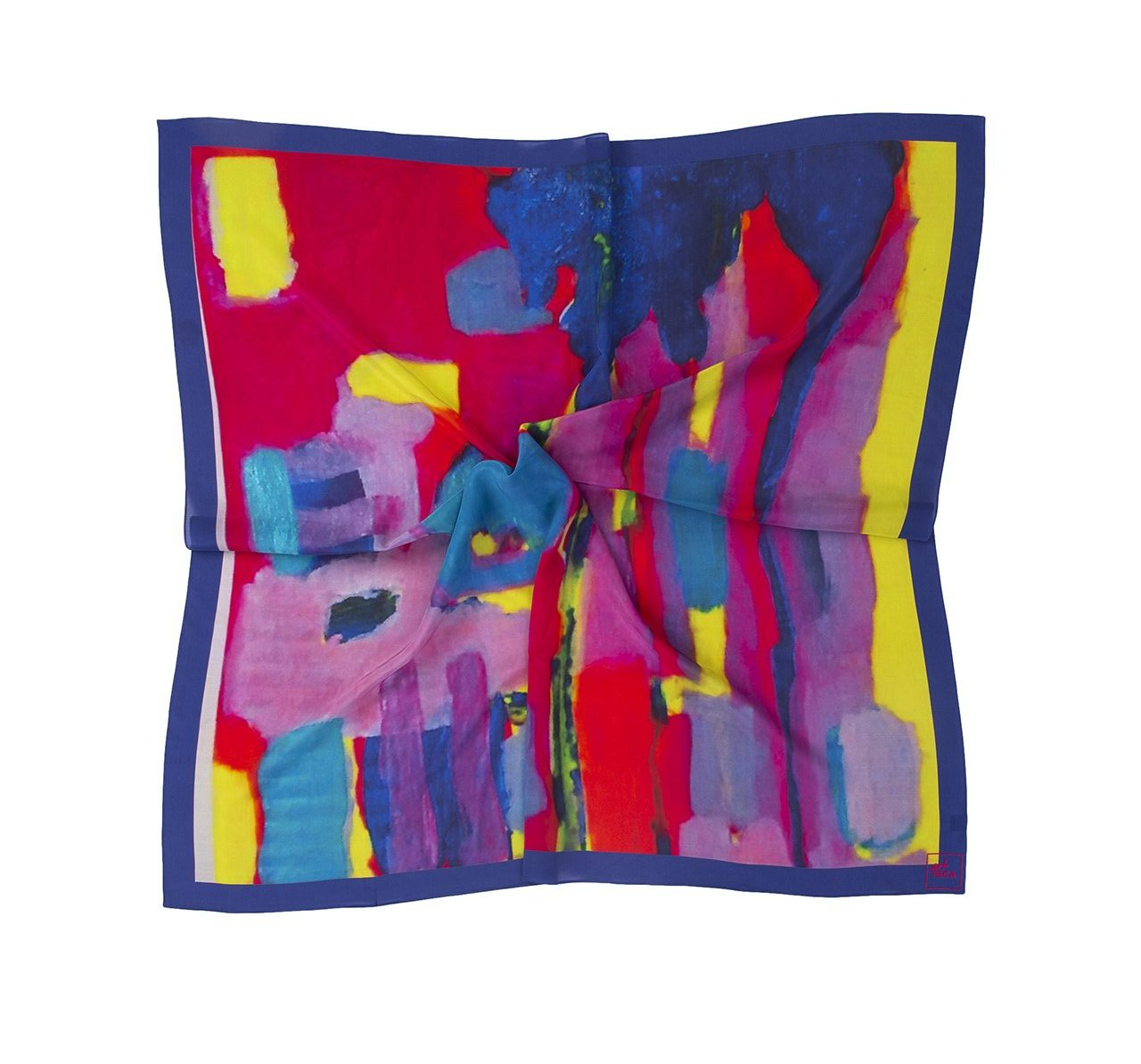 Hue Silk Scarf - Colorful Sunrise Print Scarves - artTECA