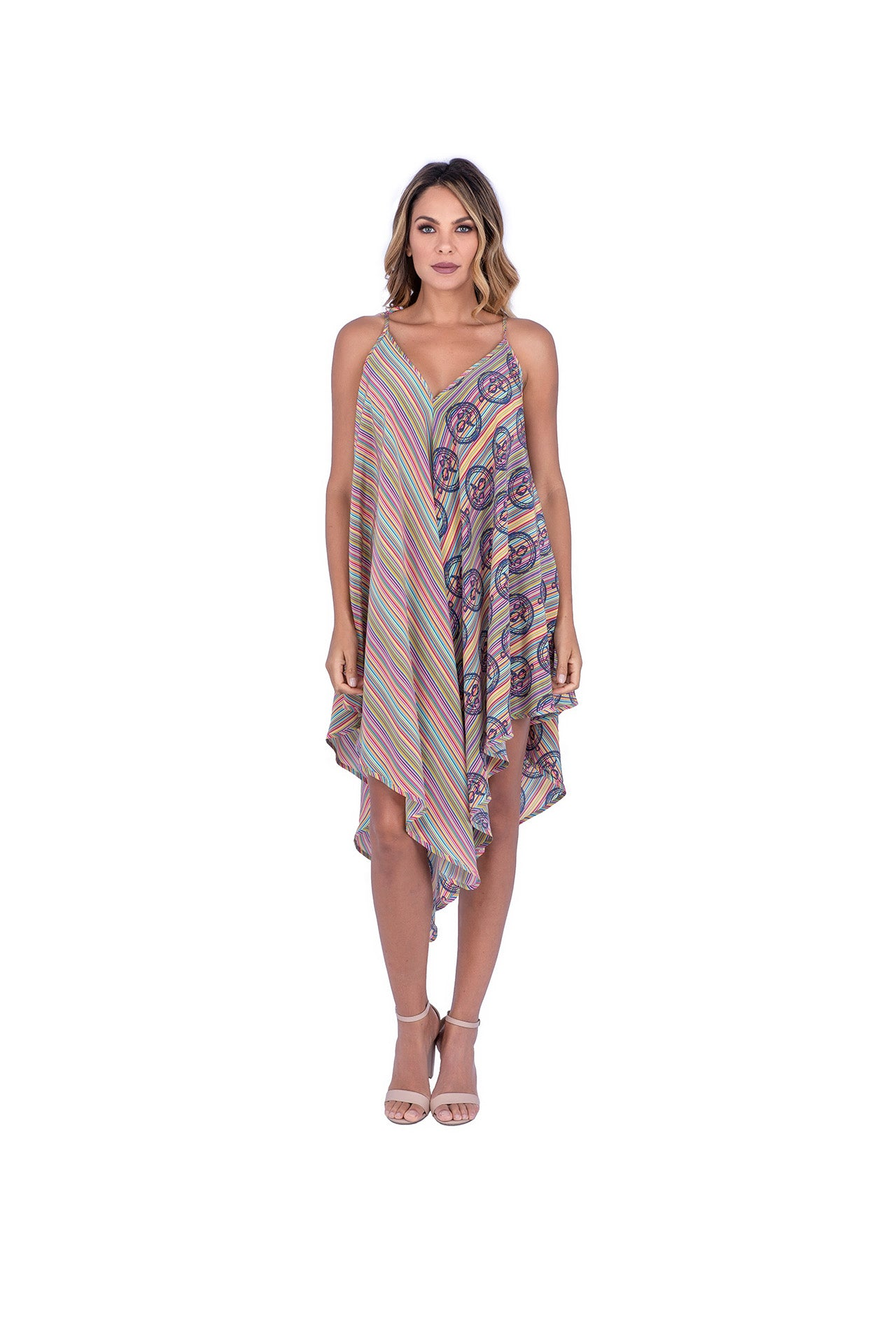 Lumini Silk Dress - Prisma Print Dresses - artTECA