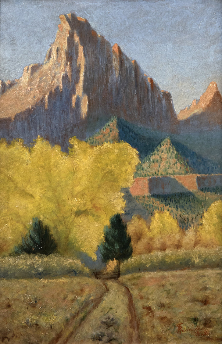 The Court of the Patriarchs, Zion National Park (1924) by JB Fairbanks