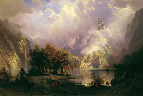 Albert Bierstadt (American, 1830-1902) Rocky Mountain Landscape (1870) Oil on canvas. 36 2/3 x 57 3/4 in. White House Collection, Washington DC.