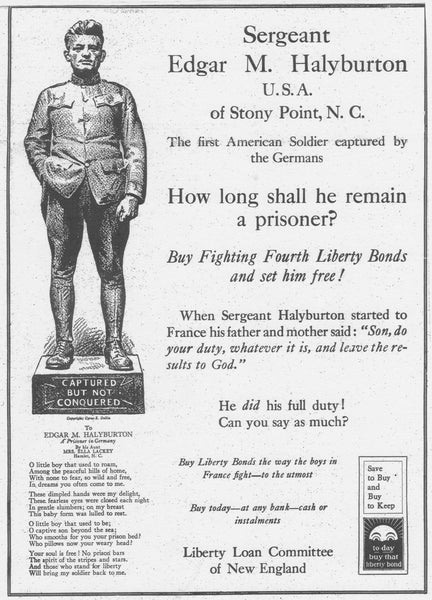 Poster for Third Liberty Loan Committee of New England Campaign (1918)