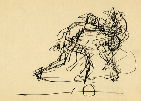 Figure 8: Mahonri M. Young (1877-1957) Punch to the Gut (1929). Ink on paper. 4 ¾ x 7 in.