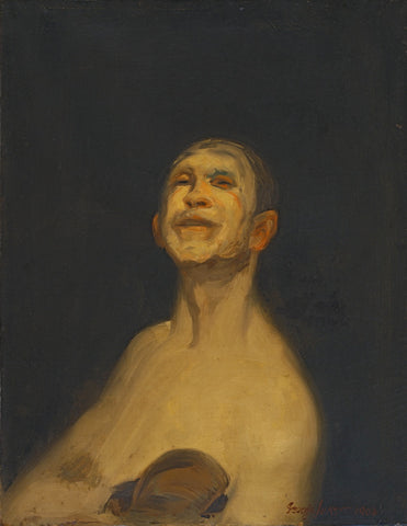 Figure 3: George Luks (American, 1867-1933) Chicago Whitey, A Self Portrait of the Artist (C. 1925) Oil on canvas. 36 x 24 in. Archives of Anthonys Fine Art & Antiques, Salt Lake City.