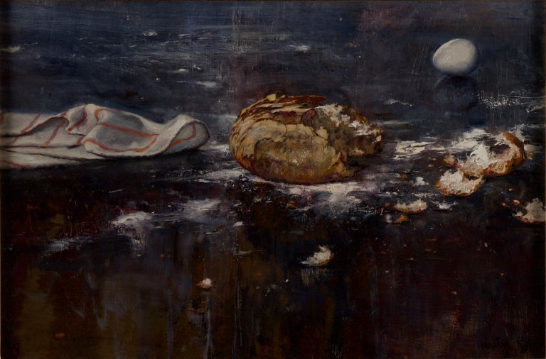 """Broken Bread and Egg"" by Walter Rane"