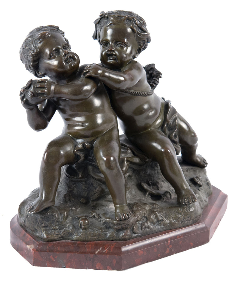19th Century, French Bronze Group after Jean Baptiste Pigalle