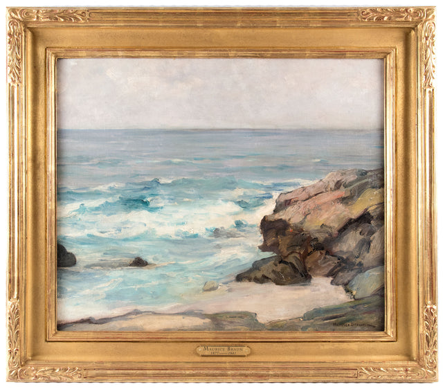 An Oil on Canvas Seascape Painting by Maurice Braun