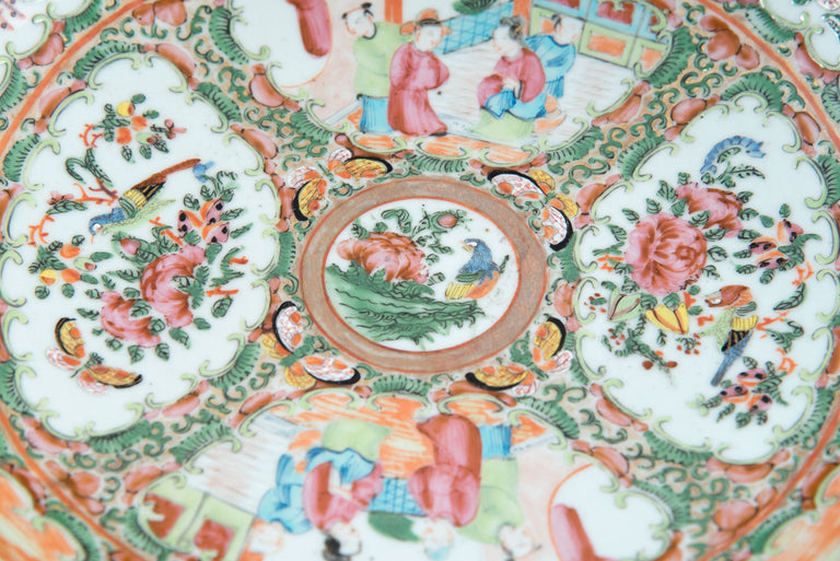 19th Century Chinese Export Famille Rose Porcelain Punch Bowl