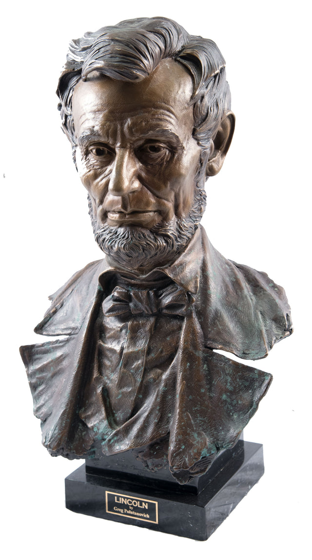 Bronze Bust of Lincoln by Greg Polutanovich