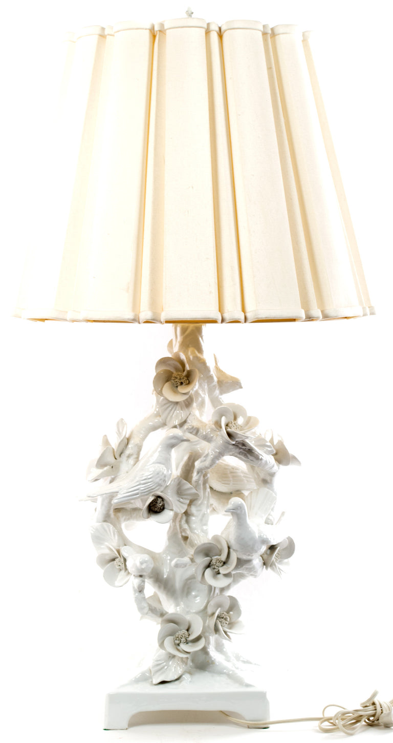 Mid-century Italian Blanc de Chine Porcelain Table Lamp