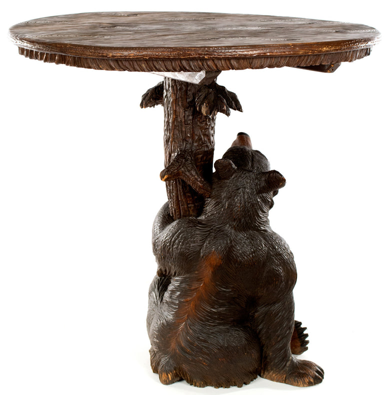 An Exceptional Black Forest Center Table