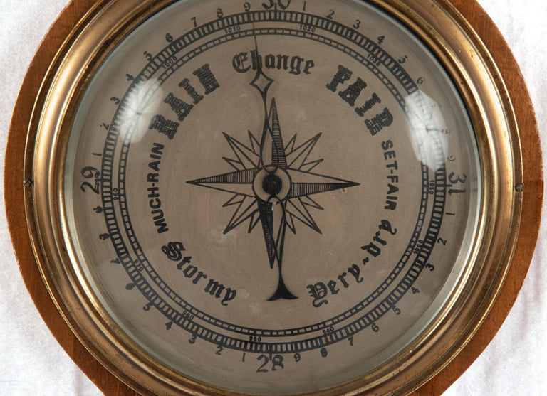 English Marquetry Barometer (c. 1900)