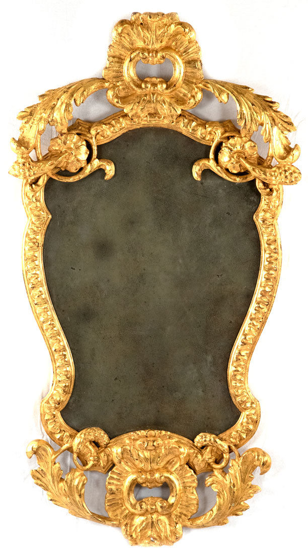 Venetian Rococo-Style Wall Mirror in Gilt Wood (c. 1840)