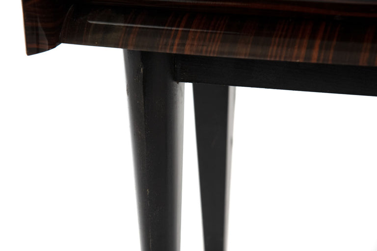 Mid-Century Modern French Side Table in Macassar Wood