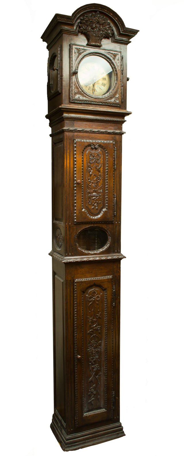 An 18th-Century French Long Case Clock from Normandy