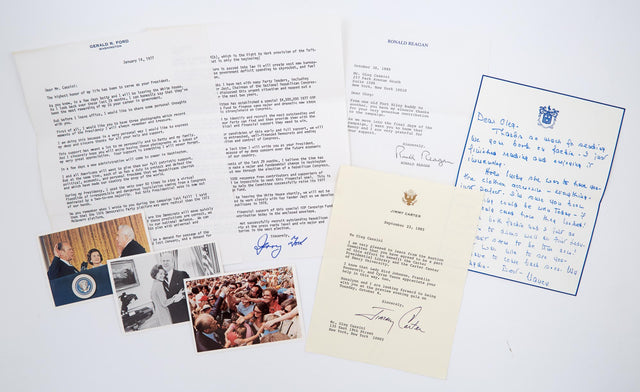 Letters from Nancy Reagan and other Presidential Figures to Oleg Cassini