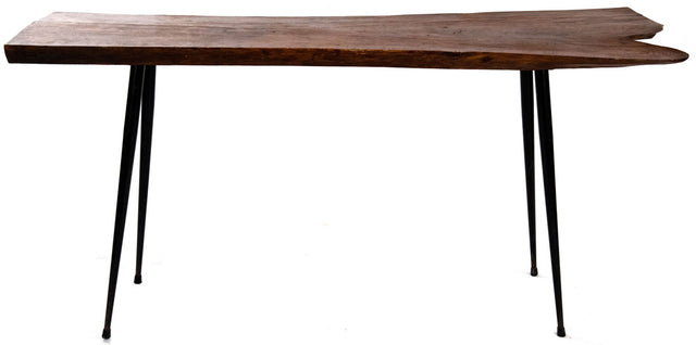 Mid-Century Modern Italian Console Table with Metal Legs (c. 1955)