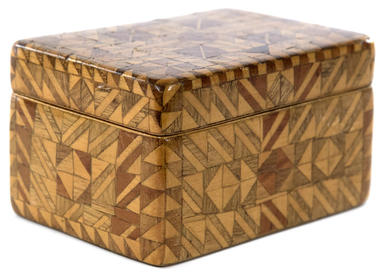 Decorative Box with Parquetry Geometric Design