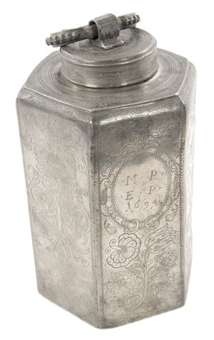 17th Century German Pewter Canister
