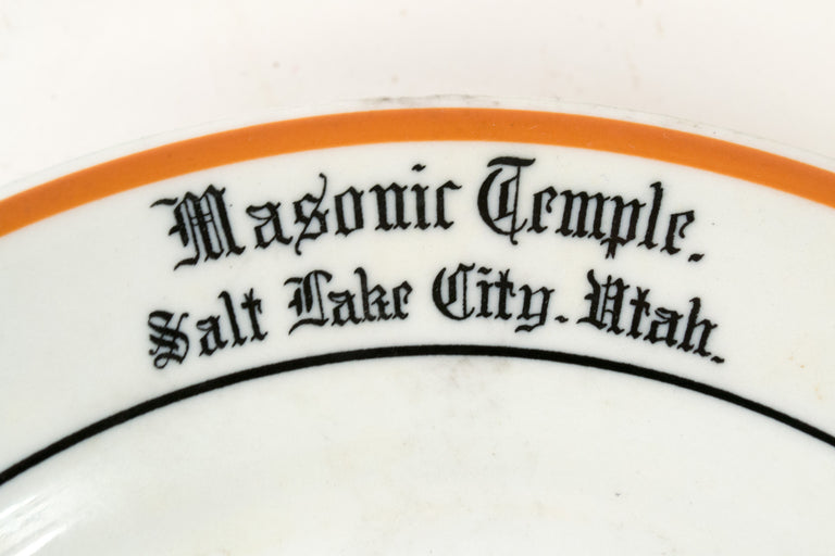 Mid-Century Masonic Porcelain Dinner Set