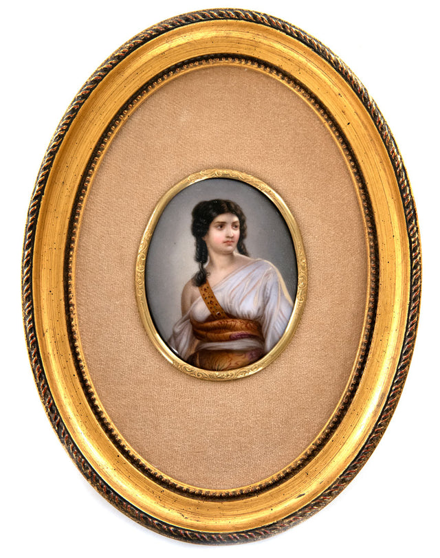 Fine K.P.M. Porcelain Plaque of Judith Beheading Holofernes by Walther (c. 1885)