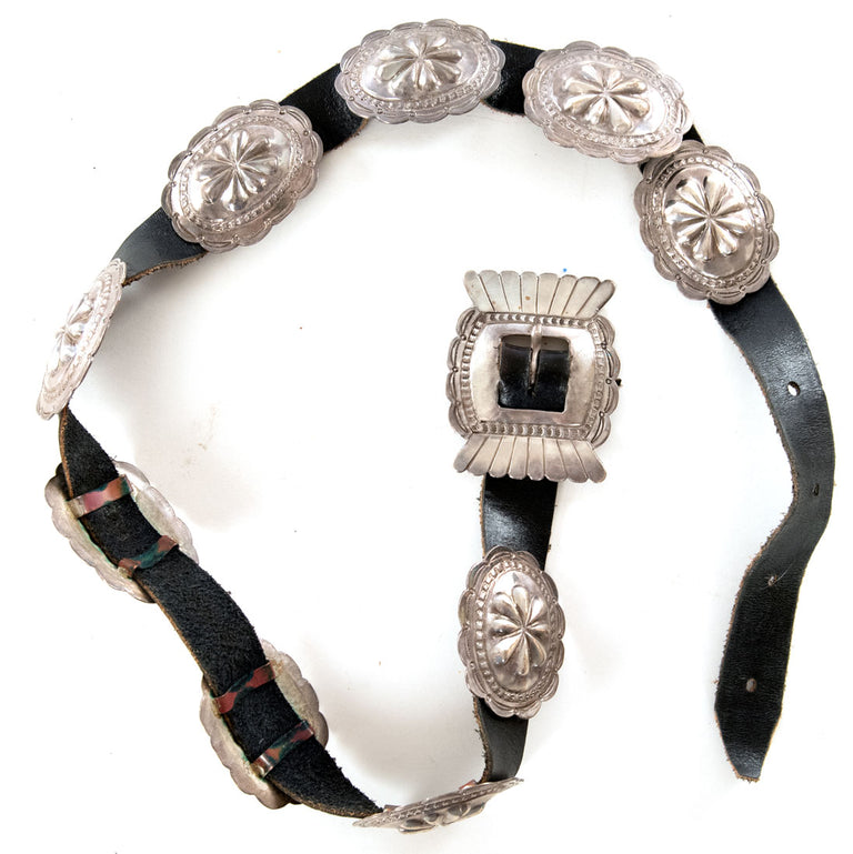 Navajo Silver and Concho Belt