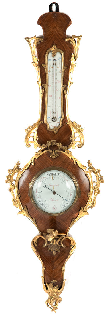 Louis XV-Style Marquetry and Ormolu Ronchetti Barometer