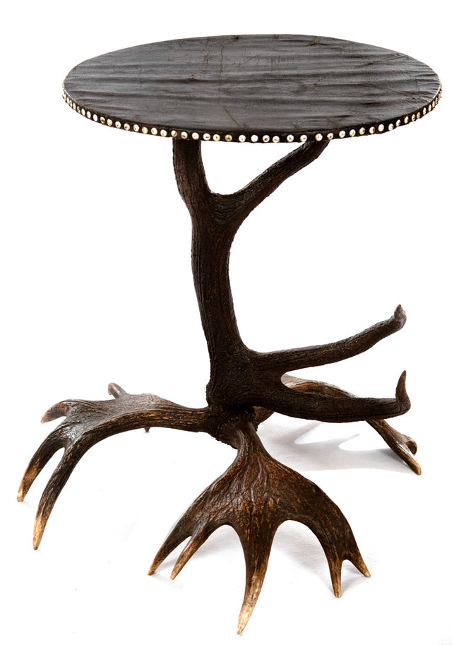 French Saint Hubert Fallow Deer Horn Occasional Table
